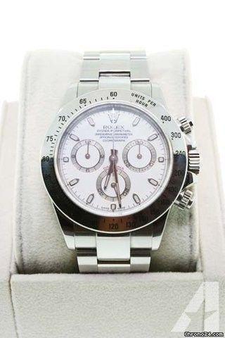 Rolex Daytona 116520 Stainless Steel Dial Gents Watch