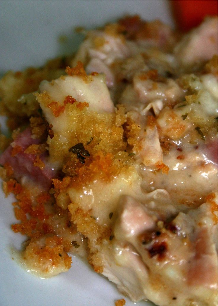 Chicken Cordon Bleu Casserole. All the deliciousness with half the effort!