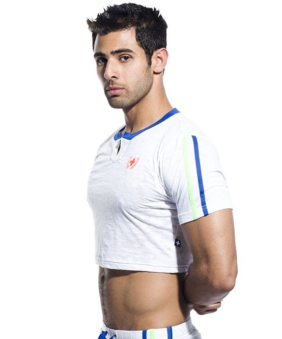 Sexy Andrew Christian crop top for men