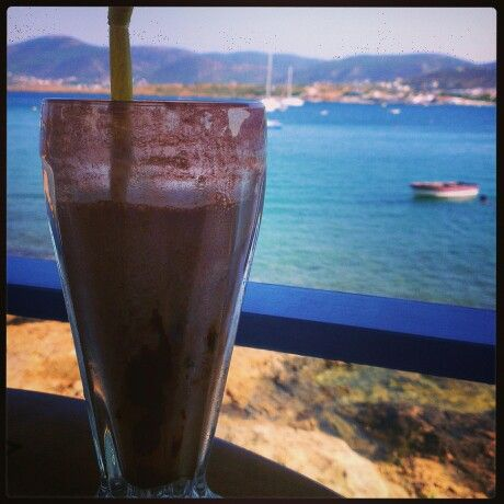 Cold #chocolate by the #sea