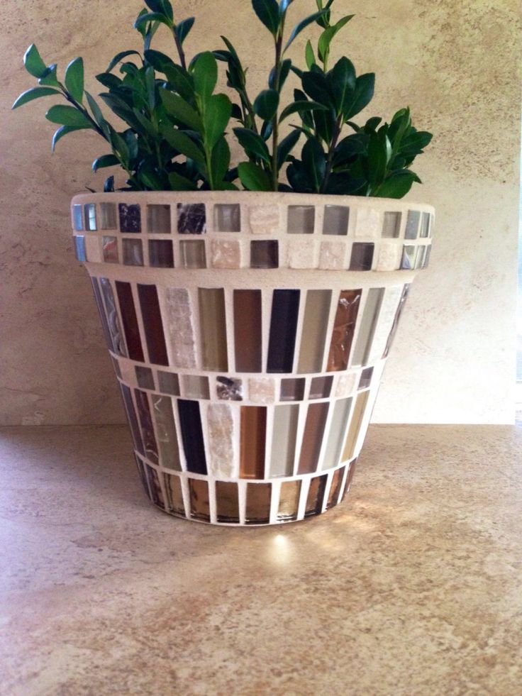 A personal favorite from my Etsy shop https://www.etsy.com/listing/470343838/rustic-mosaic-flower-pot-large-indoor