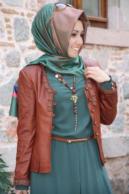 Turkish style hijab ? muslim women fashion .