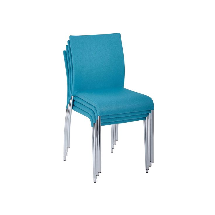 Ave Six Conway Stackable Chair 4-piece Set, Turquoise/Blue (Turq/Aqua)