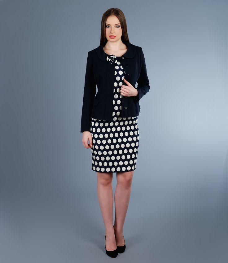 Navy with a touch of white #elegance #yokko #outfits #womensfashion