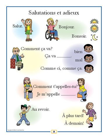 French Greetings Poster - Italian, French and Spanish Language Teaching Posters…