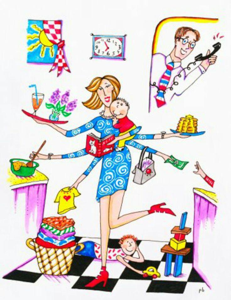 Мама домохозяйка прикольные картинки