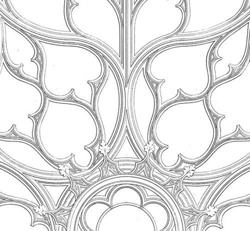 Simple Gothic Architecture Drawing On Decor