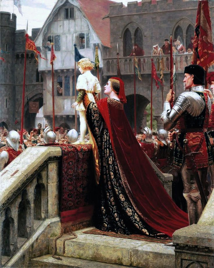 """Edmund Blair Leighton, """"Vox Populi"""" or, """"A Little Prince Likely in Time to Bless a Royal Throne"""""""
