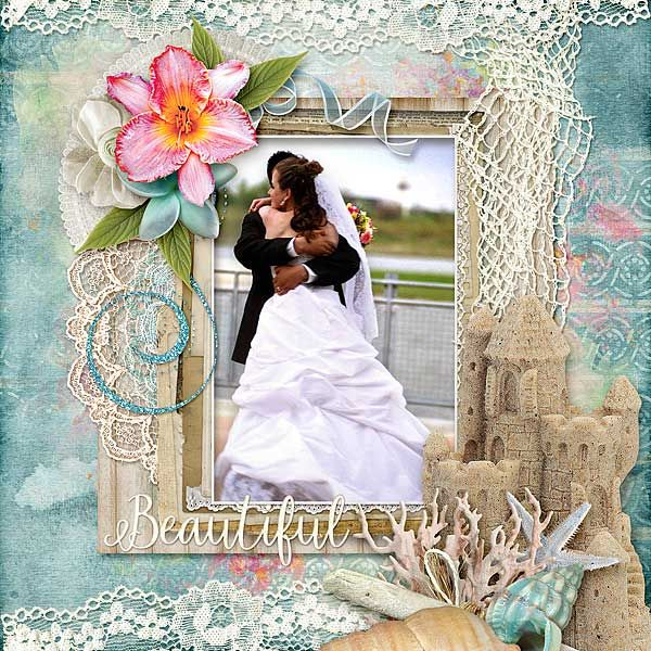 Beautiful  Created Using   Alexis Design Studio's White Sands Collection from http://www.thedigichick.com/shop/White-Sands-Collection.html