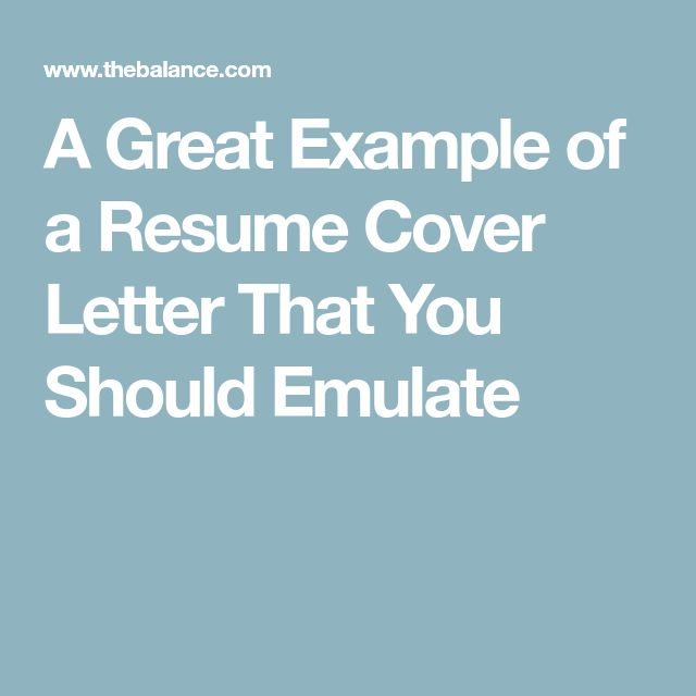 A Great Example of a Resume Cover Letter That You Should Emulate