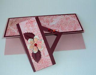 Поделки из сундучка: Бордово-розовый конверт для денег.