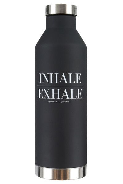 Spiritual Gangster Inhale Exhale Mizu Stainless Steel Water Bottle  25 ounces BPA Free Lifetime Warranty  BLV076SB