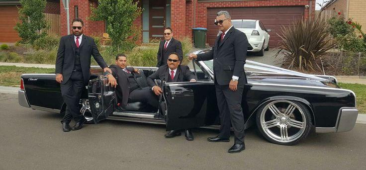 Groom. Groomsmen. Lincoln Continental.