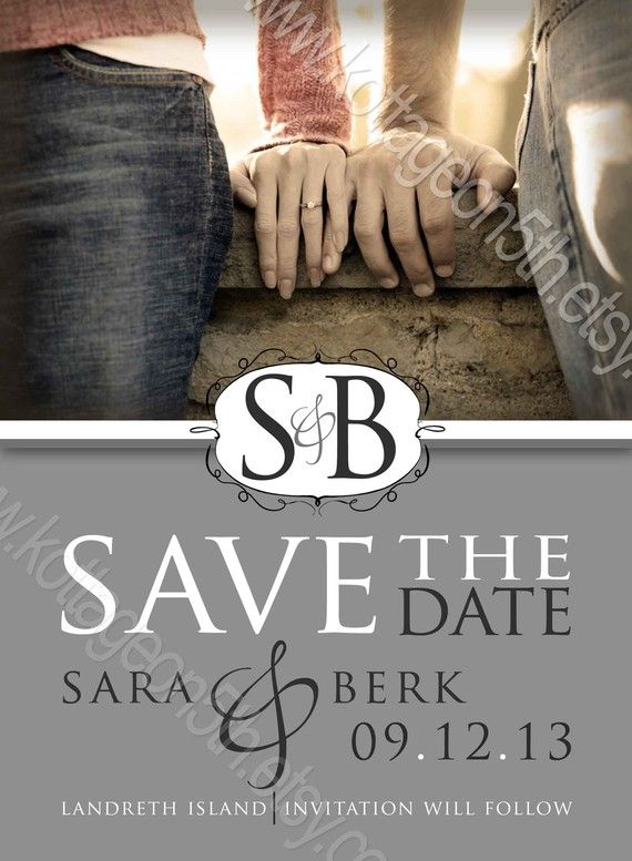 Sophisticated Vintage  Save the Date  Printable by kottageon5th, $16.00
