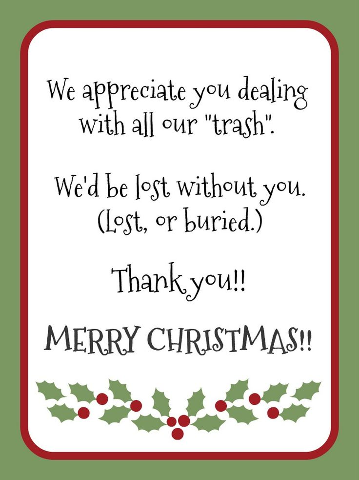 Gift idea for garbage collector - Christmas is the perfect ...