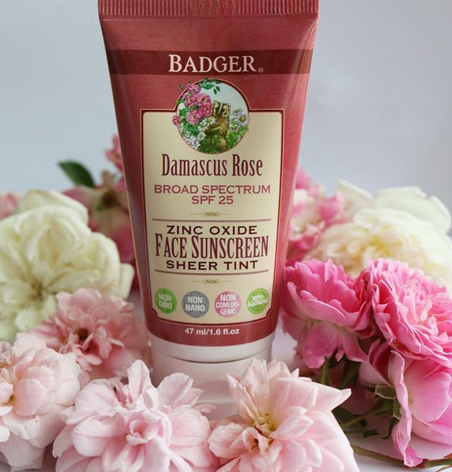 Natural organic Badger SPF face sunscreen review