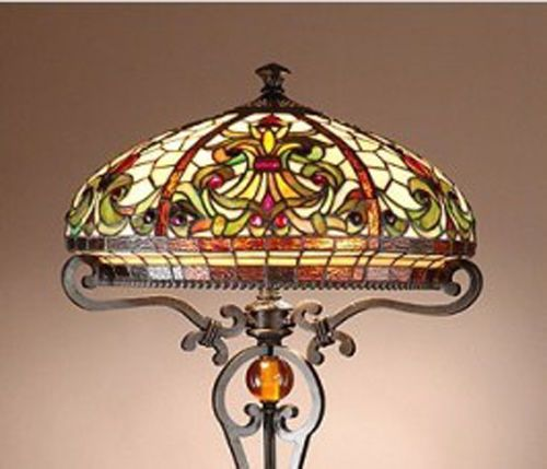 BOHEME TIFFANY STYLE REAL STAINED GLASS HANDCRAFTED FLOOR LAMP-STUNNING QUALITY