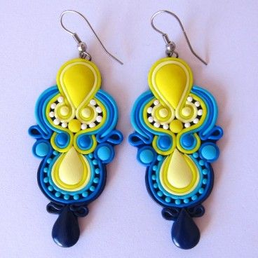 soutache in polimery clay