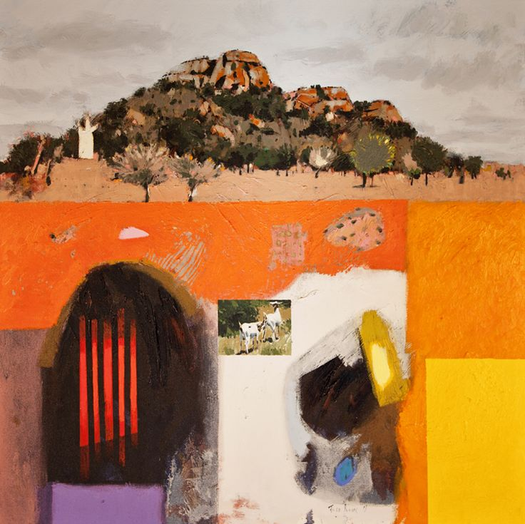 Rural Venda, oil on canvas, 100 x 100cm