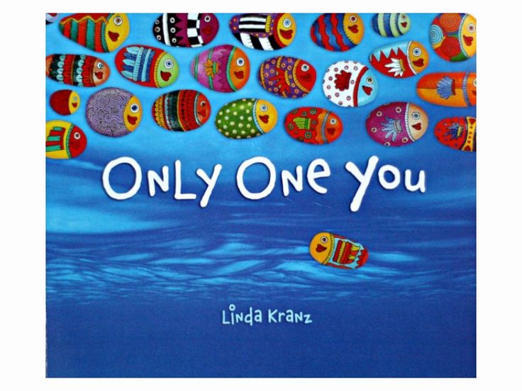 Only One You by Linda Kranz book review and teaching points from damsonlane.com. Book extensions include  painted stones, primary colours, paper fish