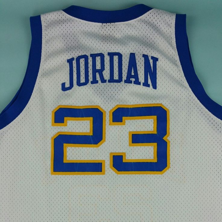 His Airness! Check out this Michael Jordan Laney High School Jersey Available on our Etsy shop. Swing by JustOneVintage.com and support. #JustOneVintage