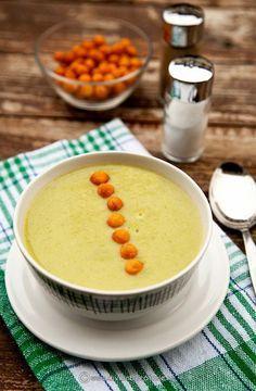 Supa crema de fasole verde cu praz