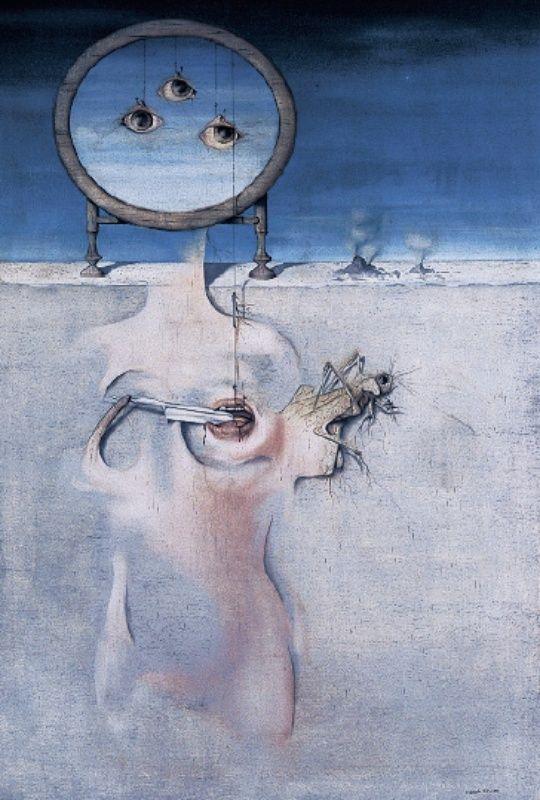 Mikuláš Medek - The noise of silence (1949) #painting #art #Czechia