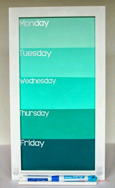So cute paint sample day of the week calender