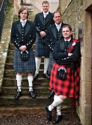 Traditional Scottish Tartan Wedding Dress