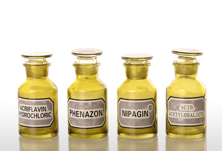 One Kings Lane - Vintage-Inspired Accents - S/4 Apothecary Bottles