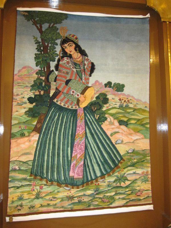 Persian rug in a rug museum