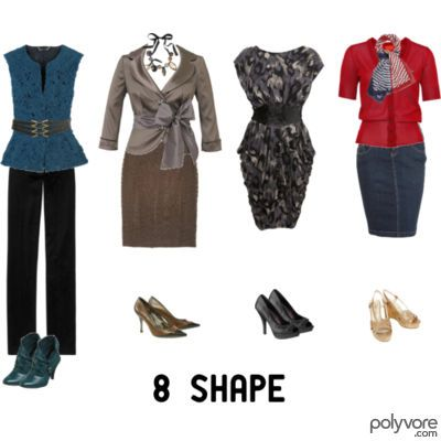 """8 Shape- love this website. It has """"real life"""" picture of various body shapes and style advice that actually makes sense. I'm an 8-  broad shoulders, small waist, high hip/shelf, no saddlebags."""