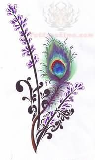 peacock feather and filigree tattoo designs | Peacock Feather Paisley Pattern Tattoo Design
