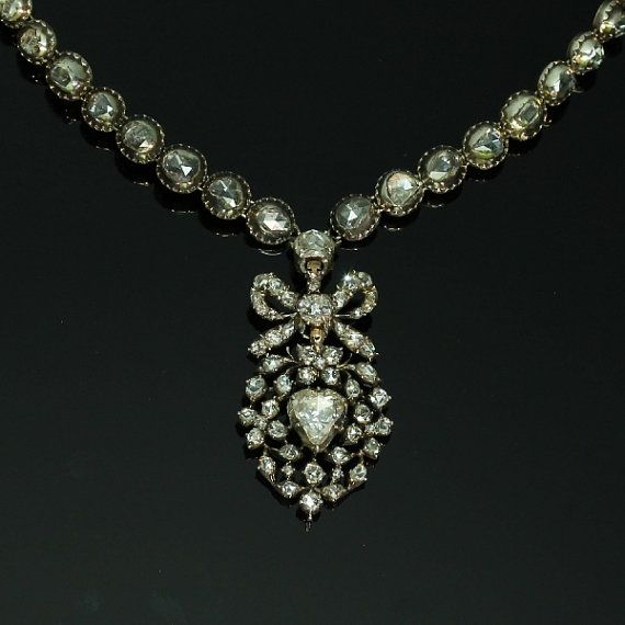Antique Diamond Heart Necklace 17th by adinantiquejewellery, €24000.00