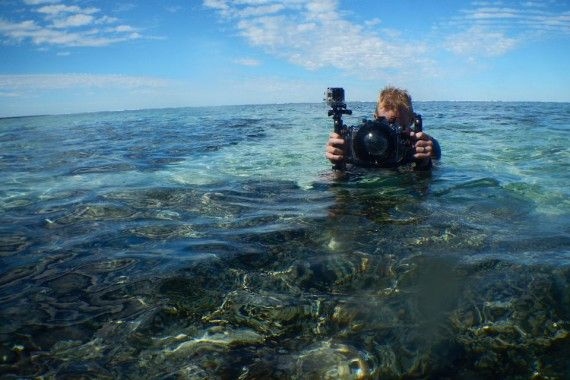 How to use your GoPro underwater - great tips - need to buy a chamois!