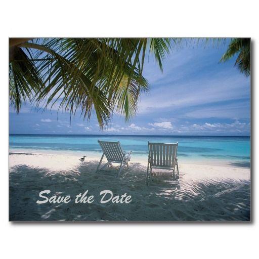 Destination Wedding Save The Date Tropical Beach Postcard