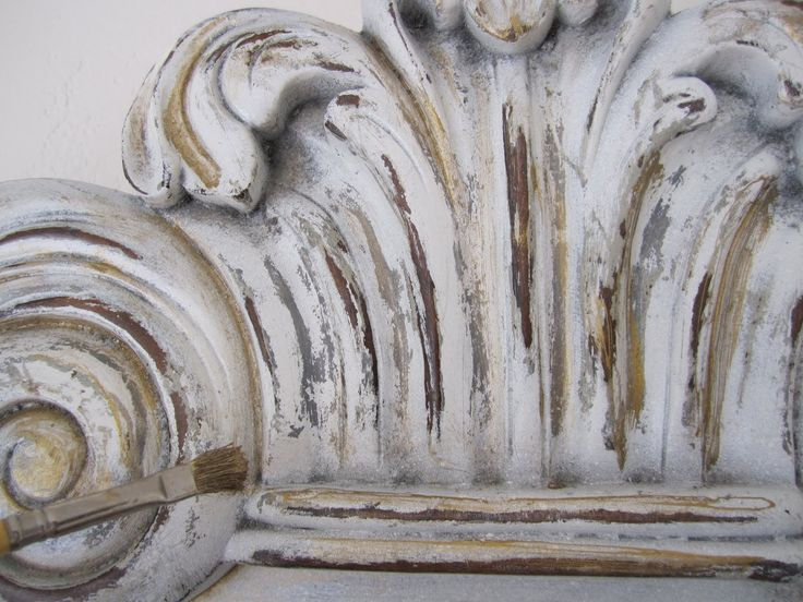 DIY:  How to Get an Authentic Aged Look on Furniture - excellent tutorial explains how to layer paint, using candle wax as a resist and how to highlight detailed carvings using paint and glaze - via Anythingology