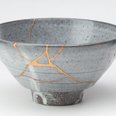 Kintsugi - celebration of imperfection. Repairing with gold.