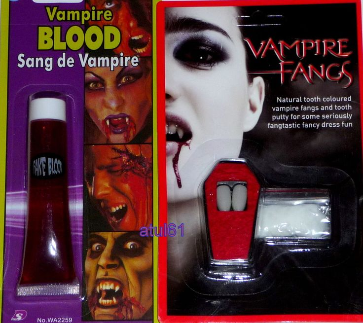 #vampire dracula fangs caps teeth halloween fancy #dress fake #blood putty adhes,  View more on the LINK: 	http://www.zeppy.io/product/gb/2/370886839856/