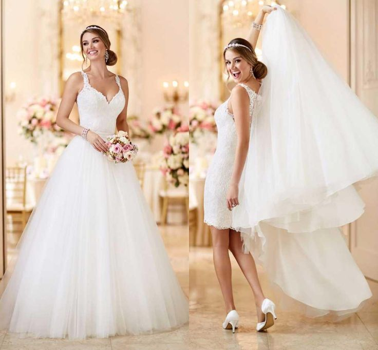 21 best Two-in-One Wedding Dresses images on Pinterest | Short ...