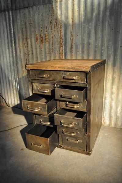industrial metal cabinet circa 1950 | FarFetchers.com