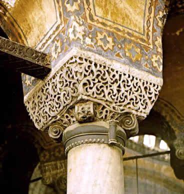 Arquitectura y ornamentos encontrados en las columnas de las catedrales y grandes Iglesias de la época correspondiente al Imperio Bizantino