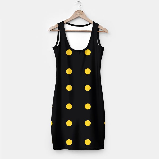Simple dress Black with Yellow 50s Magical Dots