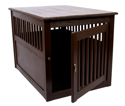 27 best wooden dog crates images on pinterest for Best wooden dog crate