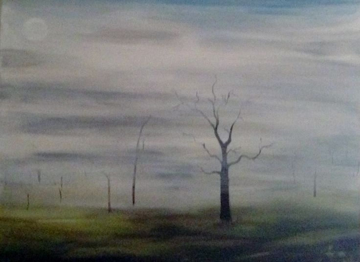 Capturing the beauty of a misty winters morning.  http://artfuly.com/artists/dreamonaboriginalarts/a-winters-morning
