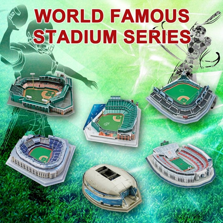 MLB Yankees NYY Chicago Cubs Boston Red Sox San Francisco Giants Cowboys american football ball rugby baseball 3D Puzzle Stadium