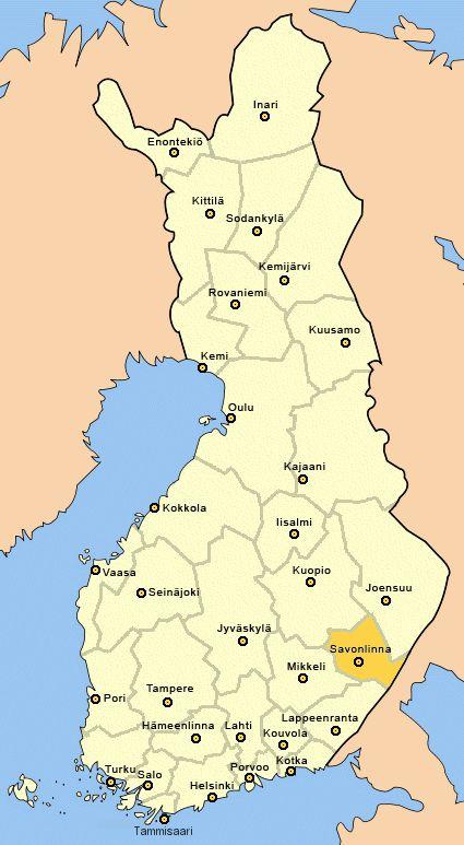 Savonlinna, map