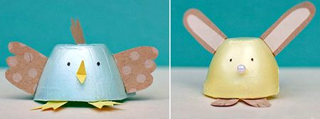egg carton easter crafts