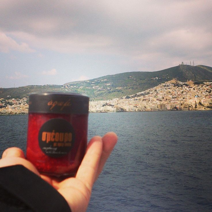 Syros island and..Raspberry with creme de cassis!!
