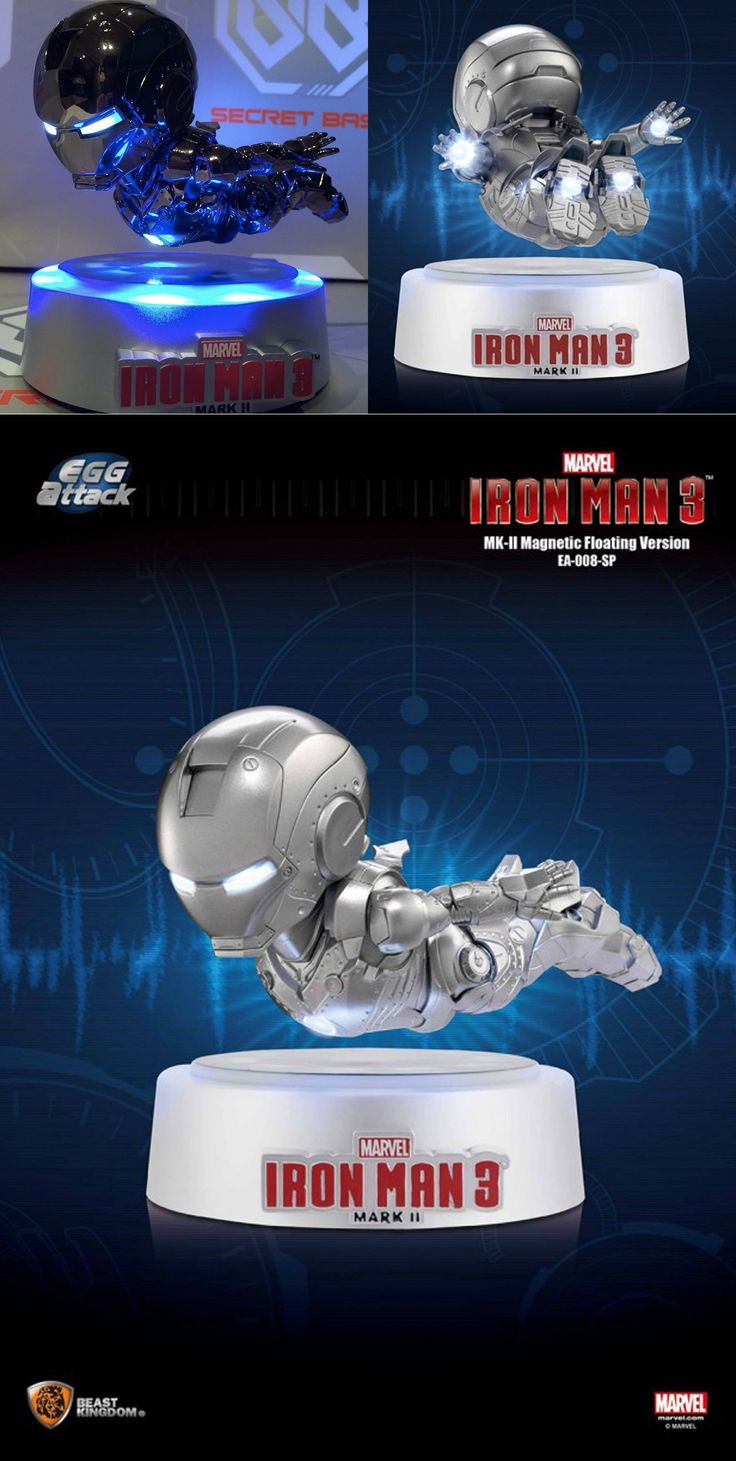 Floating IRON MAN - Mark II is Impractically Rad Sure, you might have the coolest Hot Toys/Sideshow Collectibles movie replica of Iron Man, but can he float and shoot light out of his eyes, hands, and feet? If not, we might have your next desk toy. Read More: http://geektyrant.com/news/floating-iron-man-mark-ii-is-impractically-rad